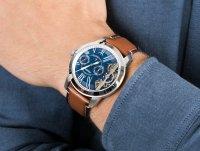 Zegarek srebrny klasyczny Fossil Grant ME1161 pasek - duże 6
