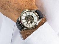 Zegarek srebrny klasyczny Fossil Grant ME3101 pasek - duże 6