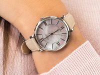 Zegarek srebrny klasyczny Fossil Jacqueline ES4151 pasek - duże 7