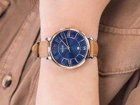 Zegarek srebrny klasyczny Fossil Jacqueline ES4274 pasek - duże 6