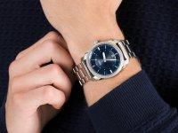 Zegarek srebrny klasyczny Fossil Machine FS5340 bransoleta - duże 6