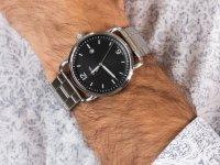 Zegarek srebrny klasyczny Fossil The Commuter FS5391 bransoleta - duże 6