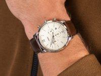 Zegarek srebrny klasyczny Fossil Townsman FS5380 pasek - duże 6