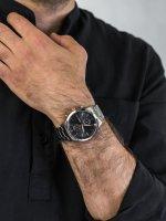 Zegarek srebrny klasyczny Fossil Townsman FS5407 bransoleta - duże 5
