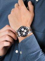 Zegarek srebrny klasyczny Guess Bransoleta W1107G3 bransoleta - duże 5