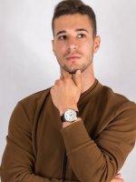 Zegarek srebrny klasyczny Guess Pasek W0380G2 pasek - duże 4