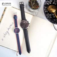 Zegarek srebrny klasyczny Lorus Fashion RG219RX9 pasek - duże 7