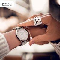Zegarek srebrny klasyczny Lorus Klasyczne RG209QX9 bransoleta - duże 7