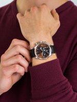 Zegarek srebrny klasyczny Michael Kors Gage MK8786 pasek - duże 5