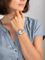 Zegarek srebrny klasyczny Michael Kors Parker MK6807 pasek - duże 5