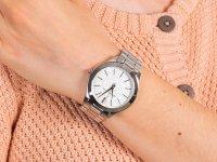 Zegarek srebrny klasyczny Michael Kors Slim Runway MK3371 bransoleta - duże 6