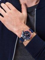 Zegarek srebrny klasyczny Nautica Nautica N-83 NAPABF917 pasek - duże 5