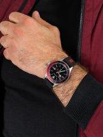 Zegarek srebrny klasyczny Nautica Nautica N-83 NAPABS024 pasek - duże 5