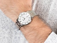 Zegarek srebrny klasyczny Orient Contemporary FGW01006W0 bransoleta - duże 6