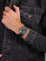 Zegarek srebrny klasyczny Orient Sports RA-AC0H03B10B pasek - duże 5