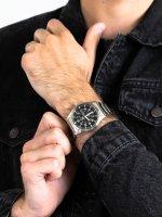 Zegarek srebrny klasyczny Seiko Automatic SNZG13K1 bransoleta - duże 5