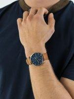 Zegarek srebrny klasyczny Skagen Holst SKW6449 pasek - duże 5