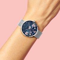 Zegarek srebrny klasyczny Strand Flower S700LXCBMC-DF bransoleta - duże 7