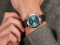 Zegarek srebrny klasyczny Timex Allied TW2R86900 pasek - duże 6