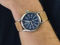 Zegarek srebrny klasyczny Timex Expedition TW4B01800 pasek - duże 6