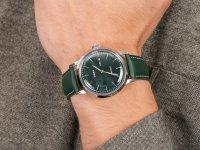 Zegarek srebrny klasyczny Timex Marlin TW2U11900 pasek - duże 6