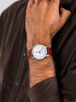 Zegarek srebrny klasyczny Timex Waterbury TW2R95900 pasek - duże 5