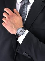Zegarek srebrny klasyczny Timex Waterbury TW2U11500 pasek - duże 5