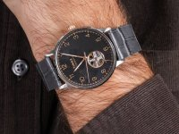 Zegarek srebrny klasyczny Timex Waterbury TW2U11600 pasek - duże 6