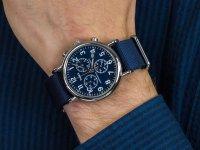 Zegarek srebrny klasyczny Timex Weekender TW2P71300 pasek - duże 6