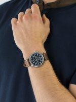 Zegarek srebrny klasyczny Timex Weekender TW2R42600 pasek - duże 5