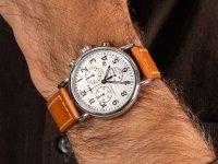 Zegarek srebrny klasyczny Timex Weekender TW2R42700 pasek - duże 6