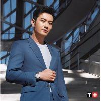 Zegarek srebrny klasyczny Tissot Carson T122.410.11.033.00 bransoleta - duże 7