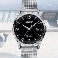 Zegarek srebrny klasyczny Tissot Heritage T118.410.11.057.00 bransoleta - duże 7