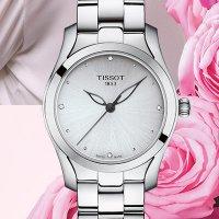 Zegarek srebrny klasyczny Tissot T-Wave T112.210.11.036.00 bransoleta - duże 5