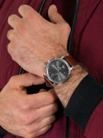Zegarek srebrny klasyczny Tommy Hilfiger Męskie 1710416 pasek - duże 5