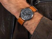 Zegarek srebrny klasyczny Tommy Hilfiger Męskie 1791335 pasek - duże 6