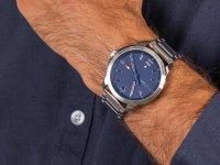 Zegarek srebrny klasyczny Tommy Hilfiger Męskie 1791620 bransoleta - duże 6