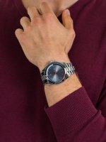 Zegarek srebrny klasyczny Tommy Hilfiger Męskie 1791684 bransoleta - duże 5