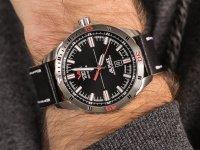 Zegarek srebrny klasyczny Vostok Europe Almaz NH35A-320A258 pasek - duże 6