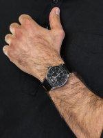 Zegarek srebrny klasyczny Vostok Europe Limousine YN85-560A517 pasek - duże 5