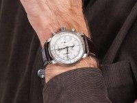 Zegarek srebrny klasyczny Zeppelin 100 Years Zeppelin Ed 1 7680-1 pasek - duże 6