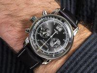 Zegarek srebrny klasyczny Zeppelin 100 Years Zeppelin Ed 1 7690-2 pasek - duże 6