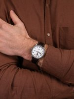 Zegarek srebrny klasyczny Zeppelin Count 7656-1 pasek - duże 5