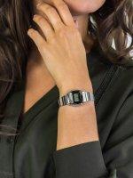 Zegarek srebrny retro Casio VINTAGE Mini LA670WEAD-1EF bransoleta - duże 5