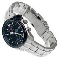 Edifice EFR-520RB-1AER zegarek srebrny sportowy Edifice bransoleta