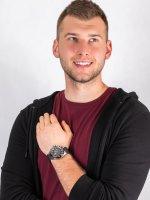 Zegarek srebrny sportowy Aviator Mig Collection M.2.19.5.134.6 pasek - duże 4