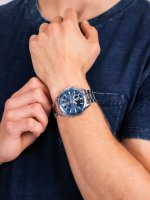 Zegarek srebrny sportowy Casio EDIFICE Momentum EFV-C100D-2AVEF bransoleta - duże 5