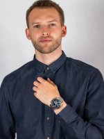 Zegarek srebrny sportowy Casio EDIFICE Premium ECB-800D-1AEF bransoleta - duże 4