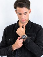 Zegarek srebrny sportowy Casio EDIFICE Premium EFS-S520CDB-1AUEF bransoleta - duże 4
