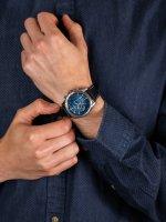 Zegarek srebrny sportowy Citizen Chrono CA4440-16L pasek - duże 5